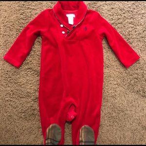 Ralph Lauren baby boy body suit in red 😍